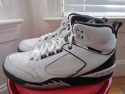 "Nike Air Jordan ""60 Plus"" White And Black Leather Men's Basketball Shoes Size 12"