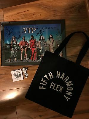 Fifth Harmony Signed VIP Poster, With Flex bag and portable charger