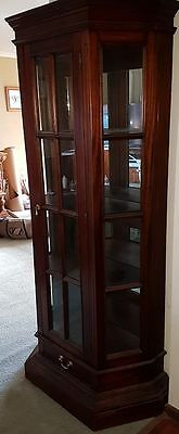 Magnificent mahogany antique style display cabinet