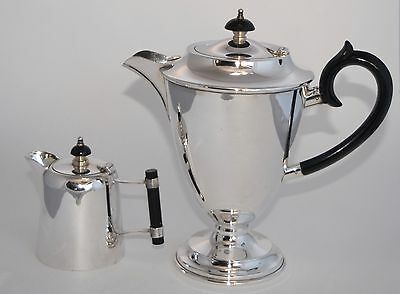 Smart Vintage HECWORTH Silver Plate Coffee Pot/Tea Pot with Matching Creamer