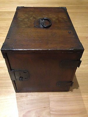 Antique JAPANESE Wooden Chest/Box with 2 Drawers
