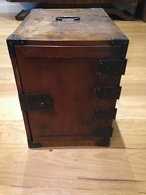 Antique JAPANESE Wooden Chest/Box with 4 Drawers