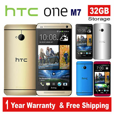 HTC One M7 32GB Quad-Core Factory Unlocked Smartphone Android Mobile Phone 4.7''