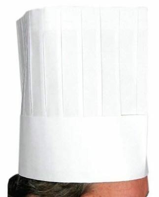 Winco Disposable Chef's Hat, 9-Inch, Pack of 10