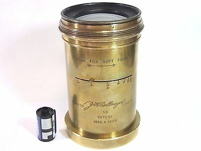 DALLMEYER 3B LENS Variable Soft Focus 290mm f3 Large Format Wet Plate Beautiful!