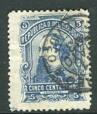 URUGUAY;  1883 classic issue fine used 5c. value fair Postmark