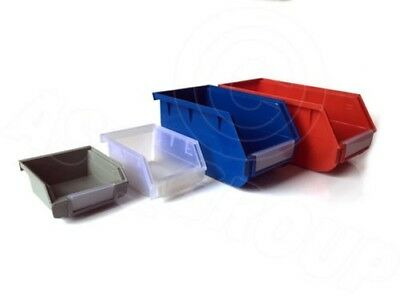 Wall Mount or Stackable STORAGE PARTS BINS boxes Various Sizes Colours Nuts Bolt