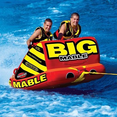 Airhead Big Mable 2 Person Inflatable Rider Tow Behind Wakeboard