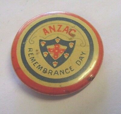 Vintage Anzac Remembrance Day Appeal Badge Button