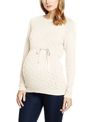 (TG. 40 ( Large)) MAMALICIOUS MLCRYSTA LS BLOUSE, Pullover Donna, Bianco (Snow
