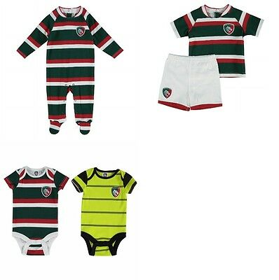 Leicester Tigers English Rugby Team Kit Baby Boys Sleepsuit Bodyvests 0 - 24 Mon
