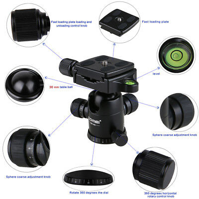 Tripod Monopod Aluminum Ball Head Quick Release Plate for DSLR Camera