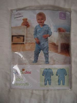 BNWT Baby Boys Blue Higgledee Jumpsuit Coverall Size 0