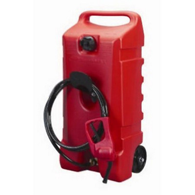 "DURAMAX FLO N' GO "" 14 GALLON GAS CAN *  FUEL CADDY with 10' Hose UL Approved"