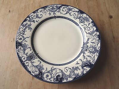VTG BLUE & WHITE QUEEN'S CHINA - THE ROYAL PALACES - 5 x DINNER PLATES