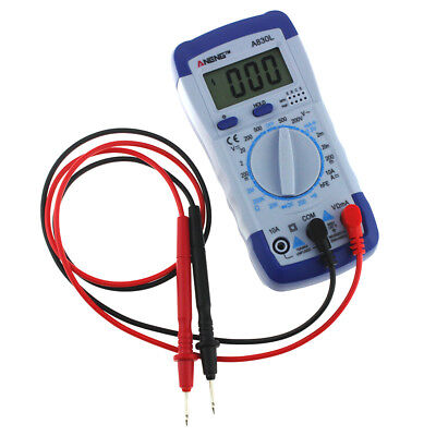 LCD Auto range multimeter Capacitance Resistance diode Temp Tester Large LCD