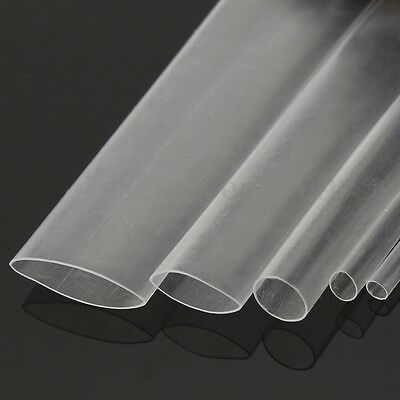 5M/16FT Clear Transparent Heat Shrink Tube Wire Cable Sleeving Wrap For Phone