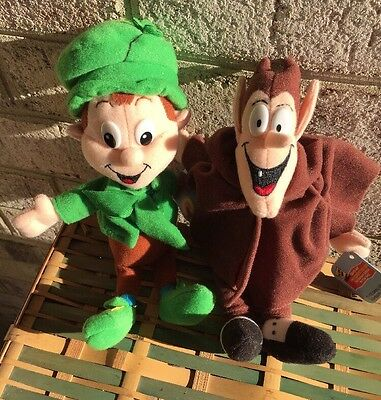 Breakfast Pals 1998 Plush Toys Lot Of 2 - Count Chocula & Lucky Leprechaun