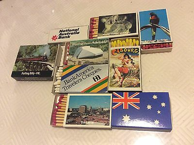 vintage mixed lot of 8 match boxes
