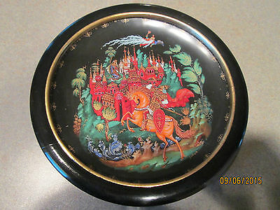 """1988 Russian Legends of Fairy Tales Tianex Collector Plate """"Ludmilla"""""""