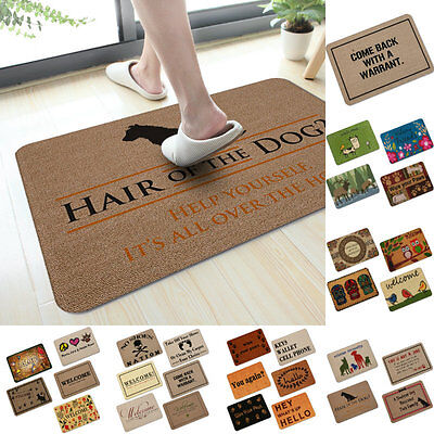Rubber 3D Room Doormat Indoor Non-slip Rug Carpet Floor Mat New Fashion Bathmats