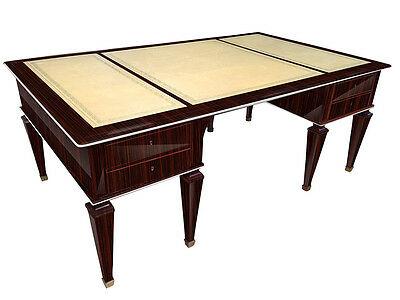 Art Deco Writing Desk out of Macassar Wood