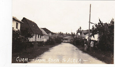 RP; GUAM - Road from Asan to Agana, 1910-30s