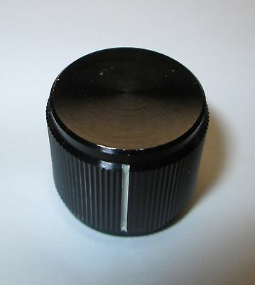"""Alco P/n Kn700B1/4 Solid Aluminum, Machined Knobs,  For 1/4"""" Shaft  Nos 3/4""""od"""