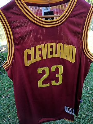 Lebron James 23 Cleveland Cavaliers Nba Swingman  Red Jersey - Adult Large Size