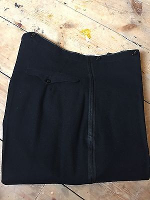 Btt15 Vintage 1920's Flat Fronted Black Tie Evening Dj Trousers Size 32 X 30