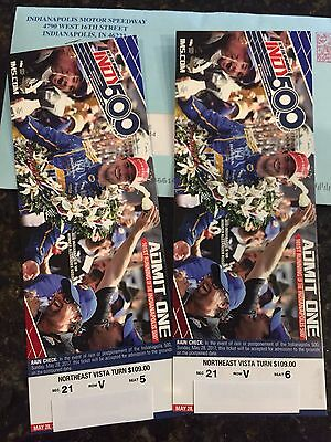 2017 Indy 500  2 Tickets Turn 3