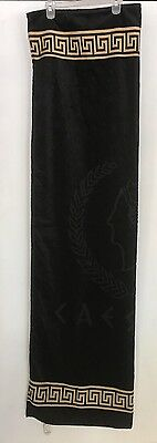 Caesars Palace Towel/Bath Black & Gold Oversize New With Tags