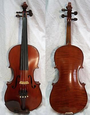4/4 Nicolaus Amatus Copy Violin Old Fine Full Size case and bow