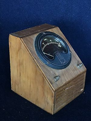 Antique Steampunk 300A Amp Ammeter Homebrew Wooden Box Test Equipment