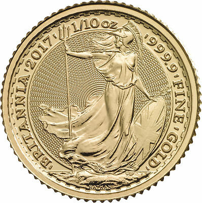 2017 Great Britain 1/10oz Gold Britannia .9999 Fine BU