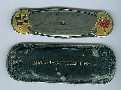 Sweden kniff by Swedish American Line..Est-value $260