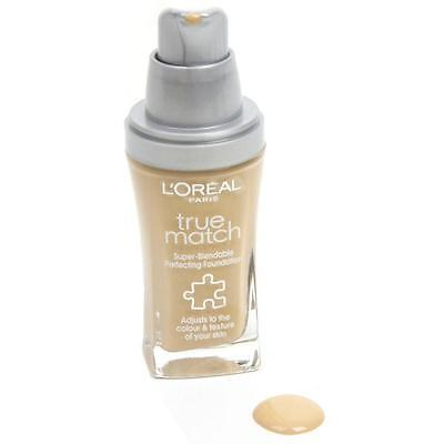 l'oreal true match super-lendable perfecting foundation in W1 golden ivory  30ml