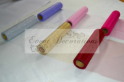 """25 Yard Roll Of 12"""" Wide Eleganza Tulle - 13 Colours, Wedding Favours Decoration"""
