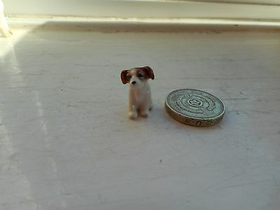 Jack Russell Terrier - Tiny Tiny Miniature Ceramic/pottery - Lovely Sitting Dog