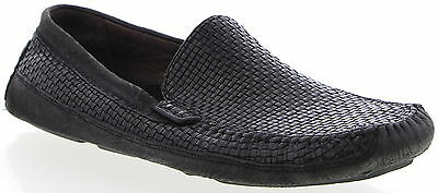 Men's TOMMY BAHAMA Black Leather Loafers Shoes Size 10.5