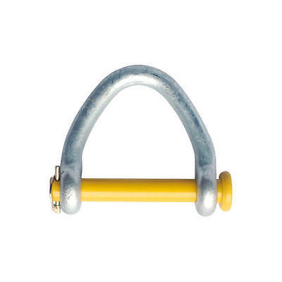 "4"" Web Shackle for Lifting Sling & Strap Round Yellow Pin Hot Dip Galv. Body"