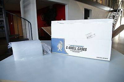 Diskmakers 200 Clear Round Clamshell CD DVD Case.