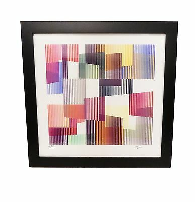 Yaacov Agam Agamograph Time From The Mobility Framed Signed 42/99