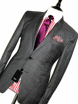 Bnwt Mens Paul Smith Kensington London Grey Prince Of Wales Checked Suit 42R W36