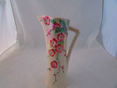 Maling Waisted Lustre Jug Embossed With Cherry Blossom
