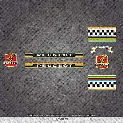 Transfers 0824 Peugeot Bicycle Stickers Decals