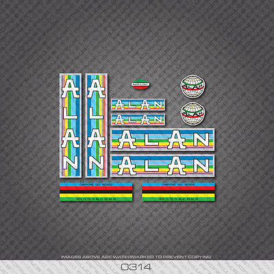 0692 Alan Bicycle Stickers Transfers Italian Flag Colours Decals