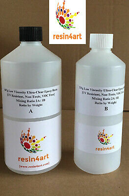 1kg RESIN4ART: Crystal-Clear Epoxy Resin for Casting (High Gloss + Non-Toxic)