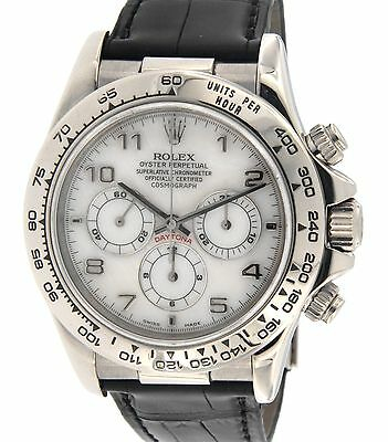 Rolex DAYTONA 16519 IN WHITE GOLD AND LEATHER STRAP, 40MM 16519