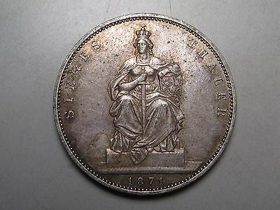 1871 German State PRUSSIA Silver  Thaler.